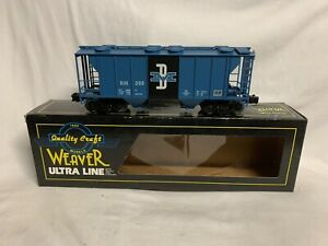 ✅WEAVER 3-RAIL BOSTON & MAINE PS-2 COVERED HOPPER CAR W/ LIONEL TYPE COUPLERS!