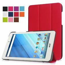 """Folding PU Leather Standing Cover For 8"""" Acer Iconia One 8 B1-850 Android Tab"""