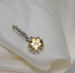 Anhänger Echtes Citrin Diamantschliff in Fassung Silber Roségold Vergoldet