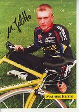 CYCLISME carte cycliste MATHIAS JELITTO équipe ISPO LOTUSAN  signée