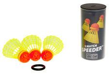 3 x MATCH Speeder® Speedminton® Speed Badminton Federball Federbälle + Windring