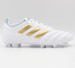 Adidas Youth COPA 19.3 FG Cleats White Gold Soccer Boot GYM Kid Spike F35467