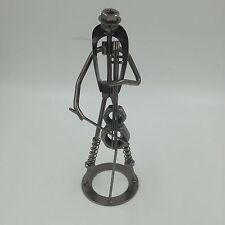 Celo Player Scrap Metal Nuts Bolts Sculpture Figure Man