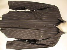 Lacoste Mens Brown Blue Stripe Long Sleeve Cotton Shirt size 45