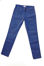 JECKERSON DONNA VINTAGE blu-violetto DENIM JEANS STRETCH SLIM FIT W30 UK12 LOOK!