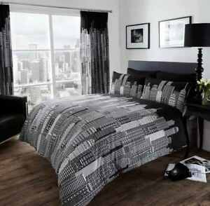 Skyline Black & White duvet cover bedding set single,Double, King