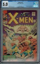 CGC 5.0 X-MEN #15 1ST APPEARANCE MASTER MOLD OW/WHITE PAGES 1965 JACK KIRBY