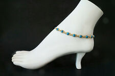 SALE! Turquoise Anklets / Authentic Gold Filled 1-20 14K / 9 to12 inch anklets
