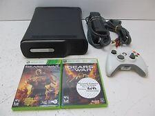 BUNDLE - Microsoft Xbox 360 120GB HDD Console Controller 2 Games Gears of War+