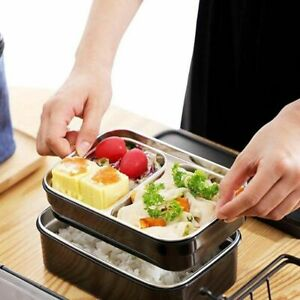 Stainless Steel Thermal Insulated Lunch Box Bento Food Container Storage Large