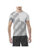 ASICS Men's Running T-Shirt Sports Lite Show S/S Top T-Shirt - Grey - New
