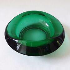 Bowl Green Bohemian & Czech Art Glass
