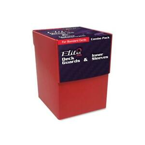 BCW Card Sleeves  Red Combo Pack - Inner Sleeves and Elite 2 Deck Guards (2 SW