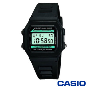CASIO W-86-1VQES CLASSIC MENS WATCH RESIN/STAINLESS STEEL ALARM STOPWATCH 12/24