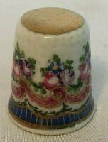 Vintage Antique LIMOGES France Rose/Flower Garland Sewing Thimble