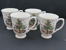 Nikko Christmas Cup Mugs ~ Japan ~ Lot of 4
