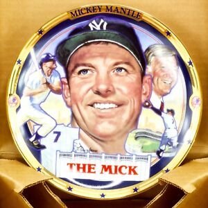 Mickey Mantle 1995 Collectors Plate The Mick The Hamilton Collection with COA