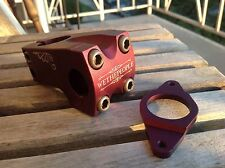 WTP We The People Supreme BMX Stem 6061 T6 Alloy with Gyroplate Dark Red Purple