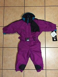 COLUMBIA CRITERION SKI SUIT SNOW OUTFIT WATERPROOF ORCHID YOUTH XXS 2/3