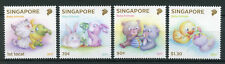 Singapore 2017 MNH Baby Animals 4v Set Cats Dogs Rabbits Bears Ducks Stamps