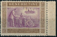 France, French Benedictine Liquor Advertising Um/Nh Old Poster Stamp #N992