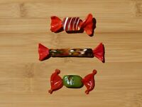 Set of 3 Handblown Murano Candies