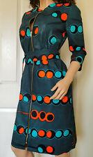 'Christine' Front Zip African Print Dress 100% Wax Cotton Handmade UK