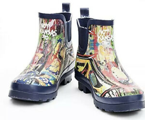 Womens Rubber Ankle Rain Boots Size 6