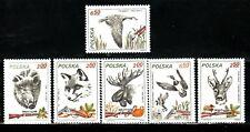 SELLOS FAUNA POLONIA 1981 2562/67 JABALI/ ZORRO /ALCE / PATOS/ CIERVO 6v.