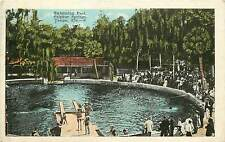 Florida, FL, Tampa, Sulphur Springs, Swimming Pool 1921 Postcard