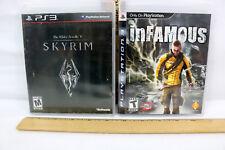 PS3 LOT of 2~The Elder Scrolls V Skyrim~inFamous~ Pre Owned