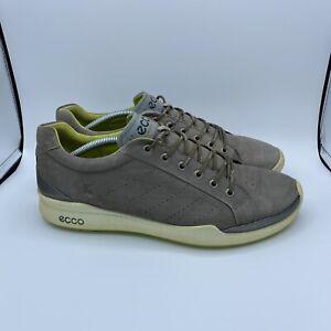 Ecco Biom Natural Motion Hydromax Yak Leather Gray/Green Mens Golf US (11.5-12)