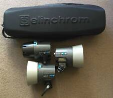 Elinchrom RX One lighting kit. 3 Heads and stands etc..