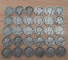 More details for usa silver mercury dime lot x 30