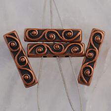 Na2360 20pcs Copper-tone bar spacer beads