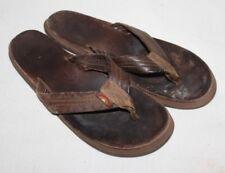 "RAINBOW Sandals Flip Flops Brown Unisex AUTHENTIC Size M 10"" Leather Womens"