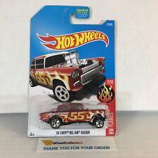#9  '55 Chevy Bel Air Gasser #12 * RED * 2017 Hot Wheels * NC17