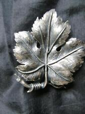 """EXQUISITE"" SIGNED  MAPLE LEAF PEWTERED BROOCH PIN"