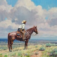 """West Texas Cow Hunter"" Martin Grelle Grande Edition Fine Art Giclee Canvas"