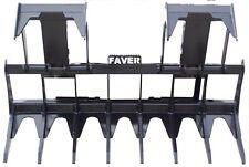 """72"""" Faver Skidsteer Brush Root Log Grapple Loader Bucket Attachments Bobcat"""