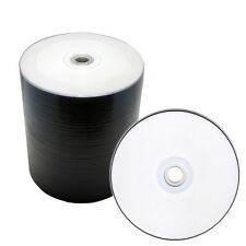 100 Pack 16x White Inkjet HUB Printable Blank DVD-R DVD 16X Disc, Priority Mail