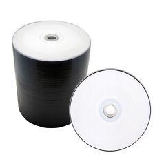 100 Pack 16x White Inkjet HUB Printable Blank DVD-R DVD 16X Disc, Priority Mail