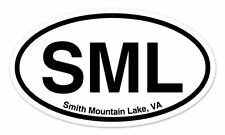 "SML Smith Mountain Lake Virginia Oval car window bumper sticker decal 5"" x 3"""