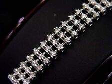 WOMENS DIAMOND TENNIS BRACELET 14K WHITE GOLD