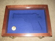 NEW CUSTOM HINGED WINDOW PISTOL  GUN CASE FOR COLT PYTHON, 1911, SAA , SMITH
