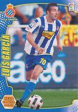 N°085 LUIS GARCIA FERNANDEZ # RCD.ESPANYOL CARD PANINI MEGA CRACKS LIGA 2012