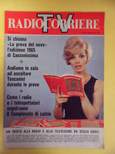 RADIOCORRIERE TV.1965.PROVA DEL NOVE CANZONISSIMA TOSCANINI CAMPIONATO DI CALCIO