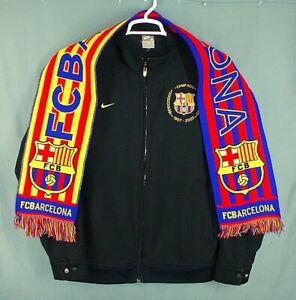 Nike FC Barcelona Camp Nou 1957-2007 50th Anniv Soccer Warm Up Jacket Mens M/L