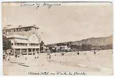 RARE Unique RPPC - Moana Hotel - Waikiki Beach Honolulu, Hawaii 1920 Real Photo