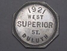 Trade Token: 1921 W. Superior St Duluth G/F 5¢.  #4